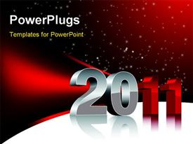 PowerPoint template displaying beautiful design with stars. For new 2011 year in the background.