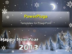 New year background powerpoint design layout