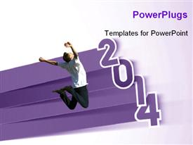 New year 2014 background powerpoint theme