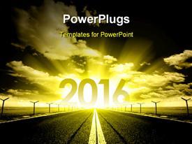 New Year 2016 powerpoint design layout
