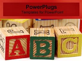 ABC building blocks powerpoint theme