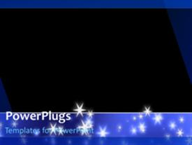 PowerPoint template displaying a short video showing lots of stars on an abstract background