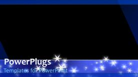 PowerPoint template displaying a short video showing lots of stars on an abstract background - widescreen format