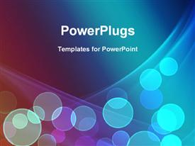 PowerPoint template displaying bokeh effect, with curves