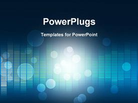 PowerPoint template displaying bokeh effect