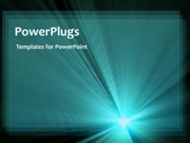 PowerPoint template displaying a plain black background with shinning blue light