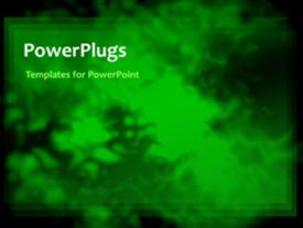 PowerPoint template displaying animation of green smoke over black background