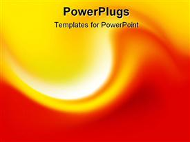 PowerPoint template displaying abstract Background - Red/Orange Wave