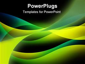 PowerPoint template displaying abstract background with shone bright multi-colored lines