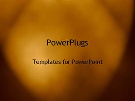 PowerPoint template displaying foggy abstract brown colored background blurred vision cloud depiction