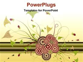 PowerPoint template displaying abstract floral chaos background