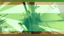 Abstract industrial network powerpoint design layout