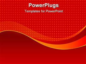 PowerPoint template displaying an abstract of red dots on a solid red background
