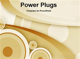 PowerPoint template displaying abstract round shapes