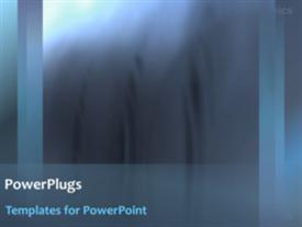 PowerPoint template displaying abstract technology background showing dark smoke