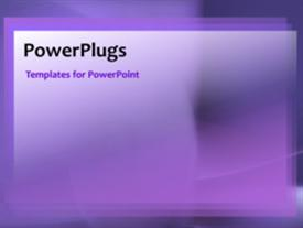 PowerPoint template displaying a purple background with a number of bullet points
