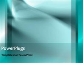 PowerPoint template displaying a short video of an abstract light blue background
