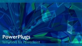 PowerPoint template displaying abstract technology background