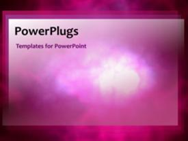PowerPoint template displaying animated depiction of pink smoke in black background