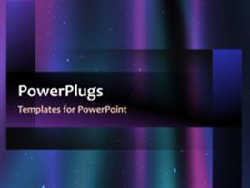 PowerPoint template displaying video showing colorful galaxy with stars and purple and blue glowing lines on first slide and non-video design on next slides