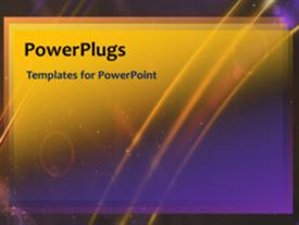 PowerPoint template displaying abstract video template of glowing yellow lines and growing and shrinking circles over purple gradients
