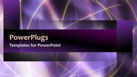 PowerPoint template displaying abstract video template of yellow lines over soft purple gradients