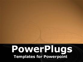 PowerPoint template displaying black and brown bands with wireframe overlay
