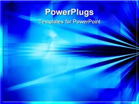 Blue Rays of Light Background Abstract powerpoint template