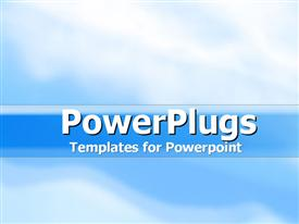 PowerPoint template displaying blue Skies