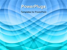 PowerPoint template displaying blue wave abstract