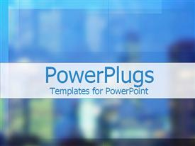 PowerPoint template displaying a plain multi colored background surface tile with blurry figures