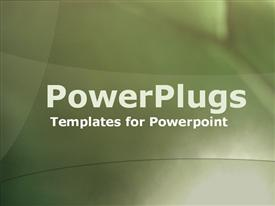 PowerPoint template displaying plain abstract olive green curves lit from lower right corner