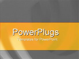 Curves and technological feel powerpoint template