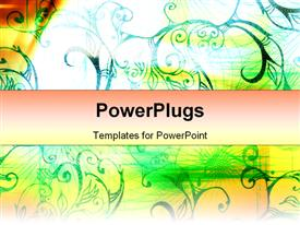 PowerPoint template displaying digital background with movement and wire shapes in the background.