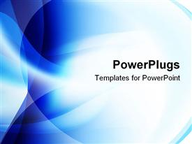 PowerPoint template displaying blue and white blend abstract background