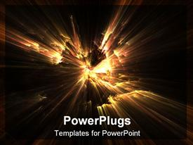 PowerPoint template displaying fractal depiction of fire
