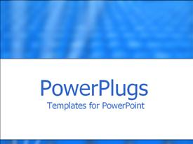 PowerPoint template displaying depiction of a plain blue and white background board