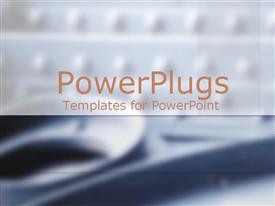 PowerPoint template displaying gray metal rivets and parts with banner