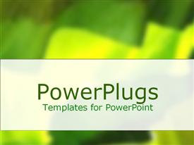 PowerPoint template displaying montage of green