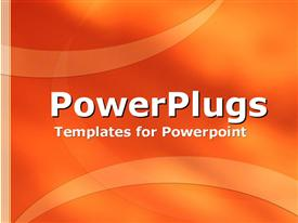 PowerPoint template displaying orange curves and ribbons in the background.