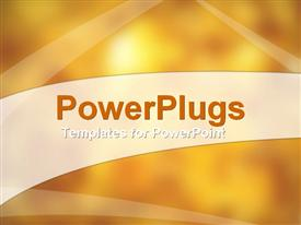 PowerPoint template displaying golden orange shaded background with different light strokes