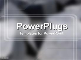 PowerPoint template displaying smart powerful black and gray shades with cute lines
