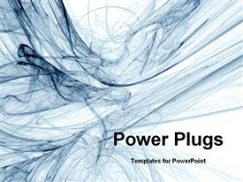 PowerPoint template displaying smoky abstract swirls in the background.