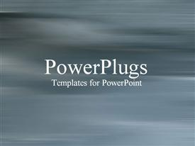 PowerPoint template displaying play gray motion blur background, no distractions