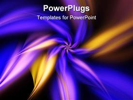 PowerPoint template displaying swirling fractal flame of a smooth purple and orange flower in the background.