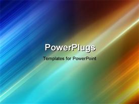 PowerPoint template displaying abstract background with motion blur and colors