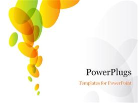 PowerPoint template displaying color abstract background for design. A