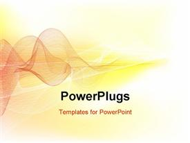 PowerPoint template displaying visualization of sound waves in brown on yellow background