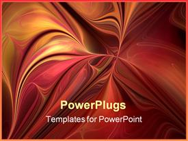 PowerPoint template displaying creative design element for art projects pamphlets banners brochures and cards