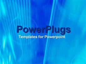 PowerPoint template displaying a plain clear blue background theme tile with bright lines and circles